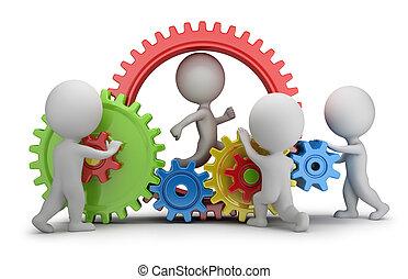 3d kleine Leute - Team-Mechanismus