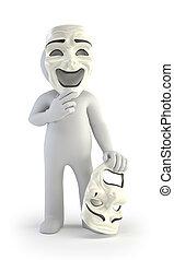 3d kleine Leute - Theatermasken.