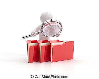 3d kleine Leute - untersucht Dateien.