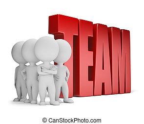 3d kleine Leute - zuverlässiges Team