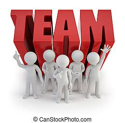 3d kleine Leute - zuverlässiges Team.