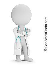 3d kleine Menschen - Arzt mit Stethoskop