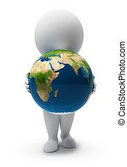 3d kleine Menschen-Earth