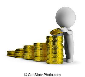 3d kleine Menschen - finanzielle Erfolge