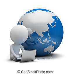 3d kleine Menschen - globale Kommunikation