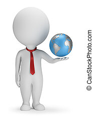 3d kleine Menschen - Manager und Erde