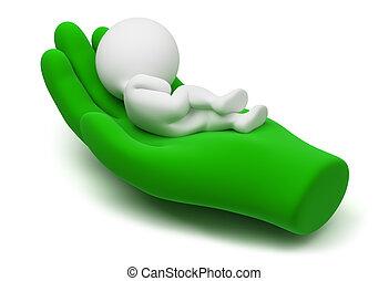 3d kleine Menschen - Pflege