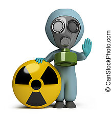 3d kleine Menschen - Strahlung