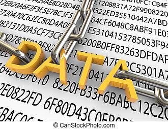 3D Konzept der Datensicherheit
