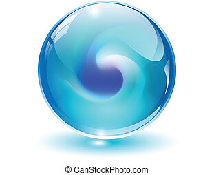 3D Kristall, Glaskugelvektor.