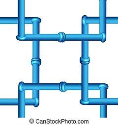 3D-Leitung isoliert auf weißem Hintergrund, Industriewerkzeuge.