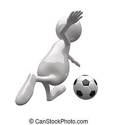 3D-Leute mit Football