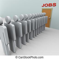 3D-Männer Jobsuche.
