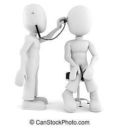 3D Mann - medizinische Untersuchung