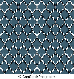 3d nahtloses Muster im islamischen Stil