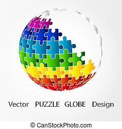 3D-Puzzlekugel-Design