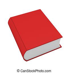 3D rotes Buch auf weiß