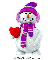 3d Schneemädchen