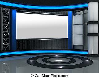 3d Studio TV virtuelles Set