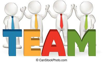 3D Teamwork Executives Arbeiter Logo.