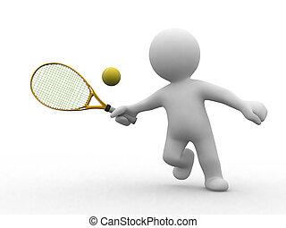3D Tennis-Leute