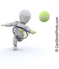 3D Tennisspieler