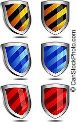 3D und 2D Shields