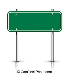 3D-Vektor, grünes Verkehrszeichen.