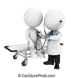 3d Weiße als Arzt