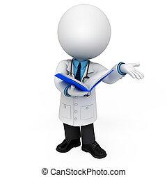 3D Weiße als Arzt.
