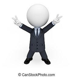 3d Weiße als Geschäftsmann