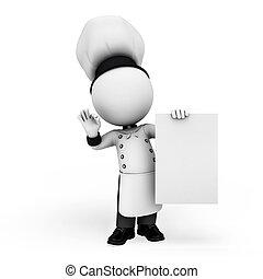 3d Weiße als Koch