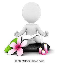 3D Weiße meditieren