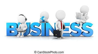 3d-weiße Menschen-Geschäftskonzept