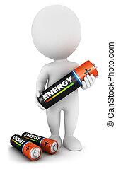 3d Weiße mit Batterie