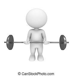 3d Weiße mit Gewichten