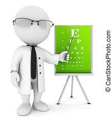 3d Weiße Optiker.