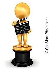 3d Weiße Oscar