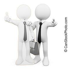 3D-Weiße. Persönlicher Business Coach