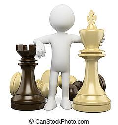 3D Weiße. Schach