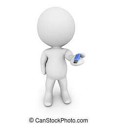 3D-Zeichen mit kleinem USB-Stic
