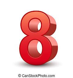 3fache rote Nummer 8.