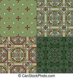 4 dekorative Hintergründe.