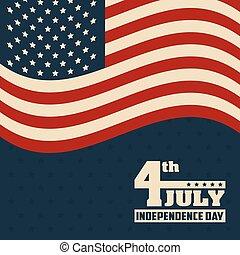 4. Juli Unabhängigkeitstag Flagge vereinigte Staaten von Amerika.