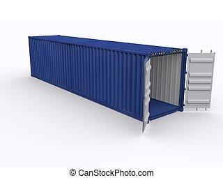 40ft Container öffnen.