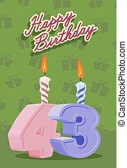 43 Jahre Geburtstagskarte