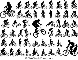 50 hochwertige Bicyclists Silhouettes Kollektion.