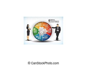 6 Sided Business Wheelchart.