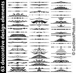 63 dekorative Design-Elemente