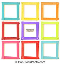 9 Holzbildbilder, Farbset